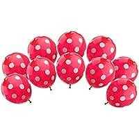Lovoski 6色 10個 ヘリウム 水玉 結婚式 誕生日 パーティー ホーム 装飾  おもちゃ バルーン 風船  - 赤, ワンサイズ