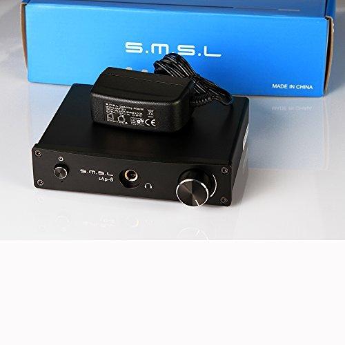 SMSL sAp-8 CNC Class-A HiFi Home Stereo Headphone Amplifier (BLACK) [並行輸入品]