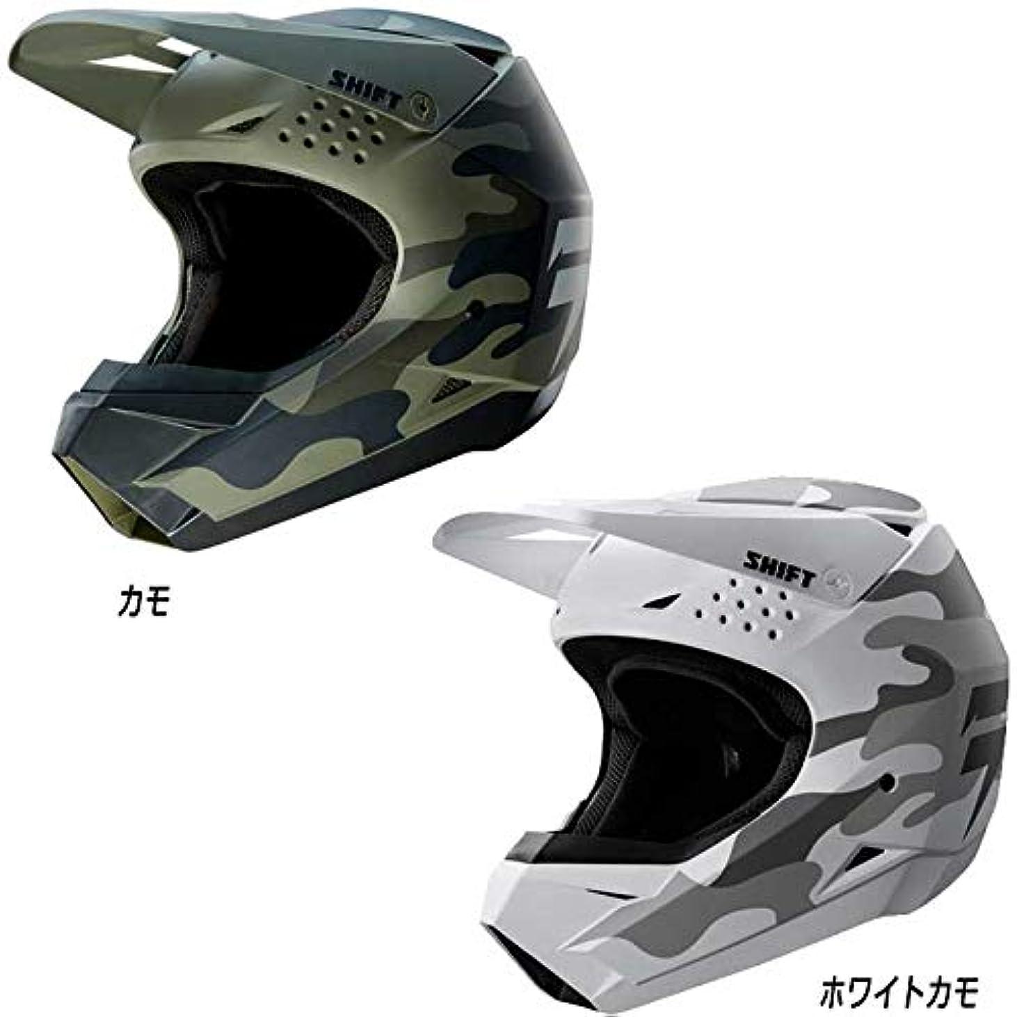レザー債権者目の前のSHIFT シフト WHITE LABEL Whit3 CAMO 2019モデル モトクロスヘルメット オフロードヘルメット バイク(L(59~60cm) カモ)