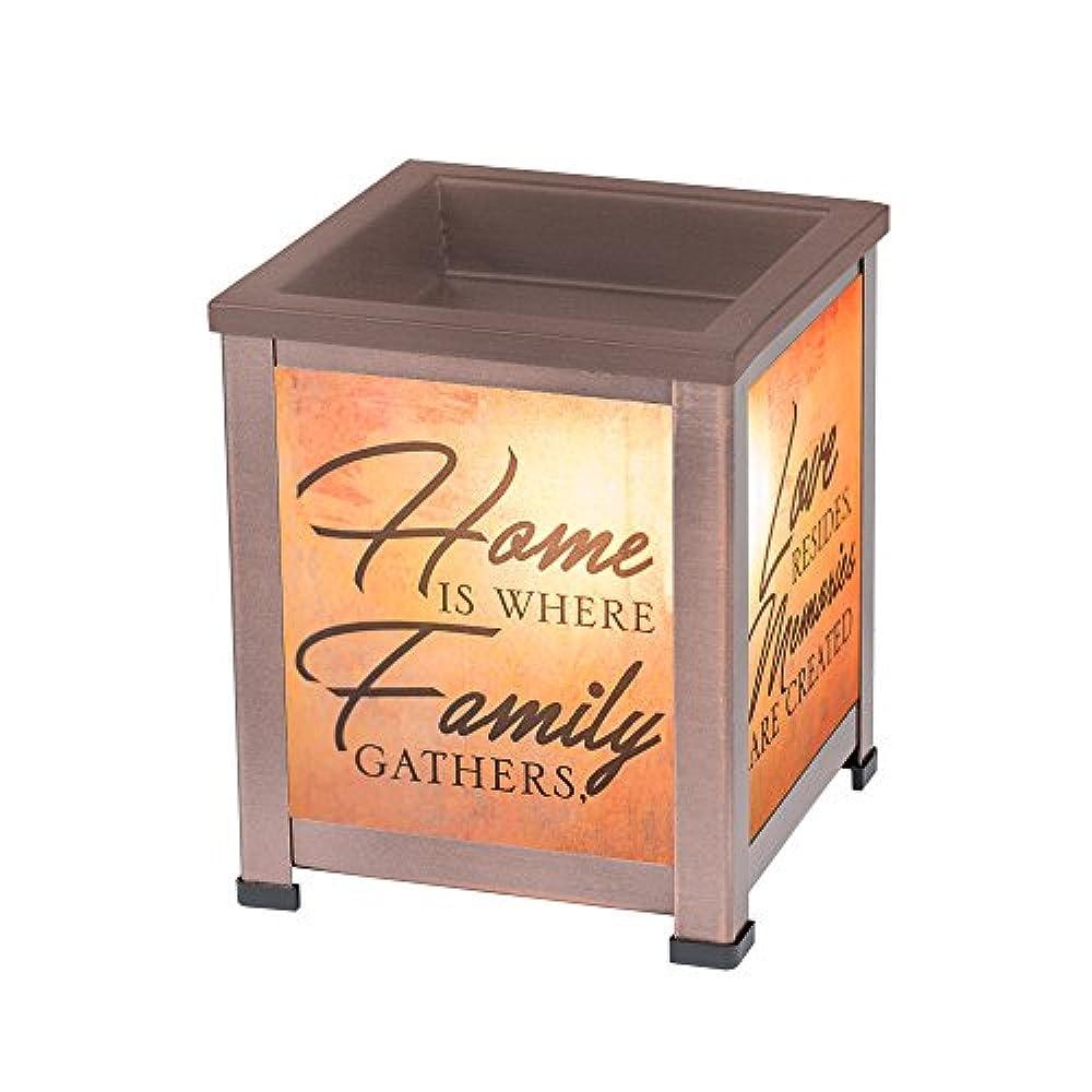 ウェイター確保するまさにelanze DesignsホームファミリLove銅トーンメタル電気ワックスTartとオイルガラスランタンWarmer