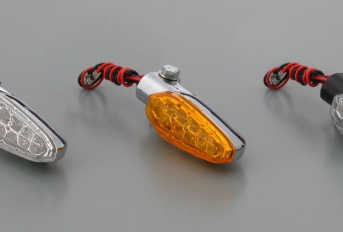 [해외]데이토나 (DAYTONA) LED 방향 지시등 면도 앰버 | 도금 67899/Daytona (DAYTONA) LED Turn indicator Shaver Amber | Plating 67899