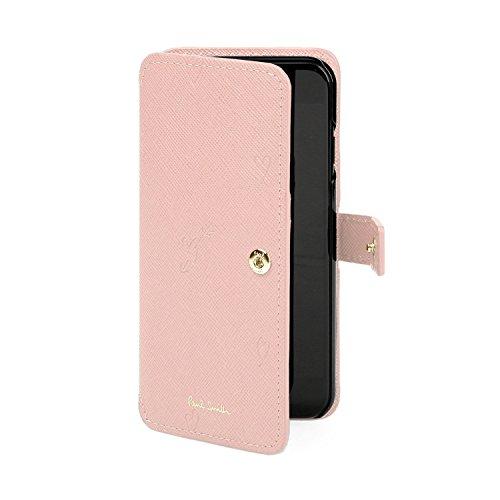 [名入れあり筆記体] ポールスミス Paul Smith スミシーハート iphone 6/6s/7 ケース ショップバッグ付 (名入れあり, ピンク)