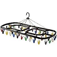 シービージャパン 洗濯 物干し ハンガー カラフル 樹脂フレーム 48ピンチ スーパージャンボ角 自立フック Kogure