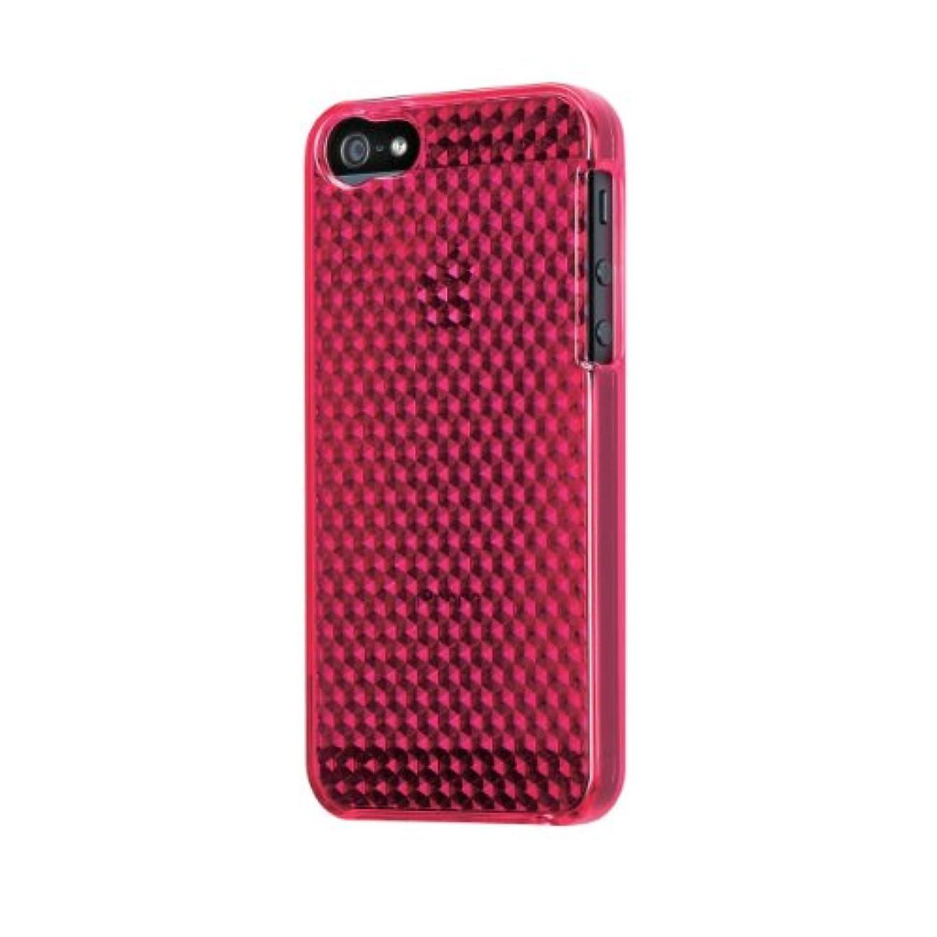 気絶させる永遠の有毒なELECOM iPhone5用 ソフトケース ダイヤモンドカット ダークピンク PS-A12UCJPND