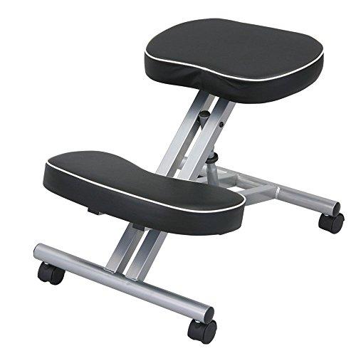 S字チェア キャスター付 パソコンチェア 姿勢 家具 子供 椅子 ブラック
