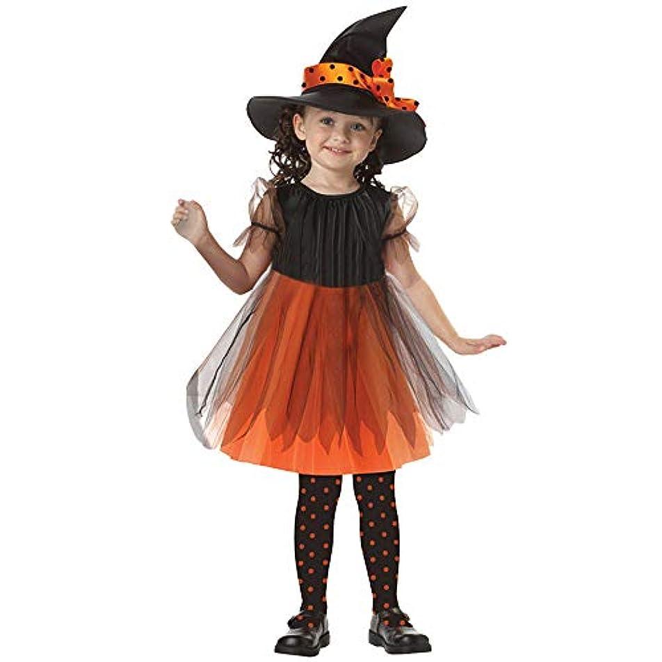 トレイ紳士気取りの、きざなアボート(プタス) Putars 赤ちゃんの女の子の漫画ハロウィーンのコスチュームの装飾パーティードレス+帽子のセット 4歳 -13 歳