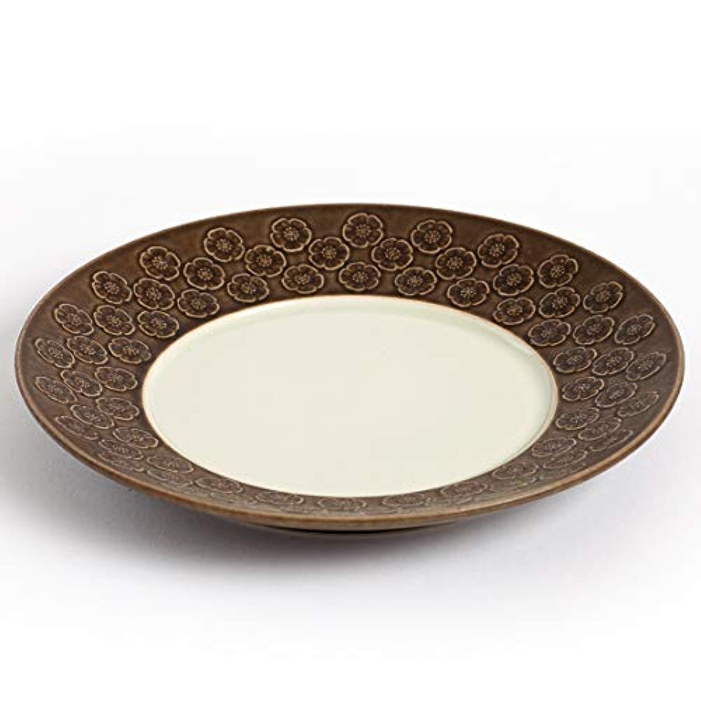 北欧ヴィンテージ デンマーク Jens H. Quistgaard(イェンス?クイストゴー)Azur(アズール?ブラウン)21cm皿