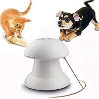 Sunhelペット用品 猫用光るおもちゃ 自動的に回転できる LEDポインター スピード調整 トレーニング