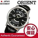 ORIENT (オリエント) SEU0A004BH 自動巻き パーペチュアルカレンダー ブラック×シルバー レザーベルト メンズウォッチ 腕時計 [並行輸入品]
