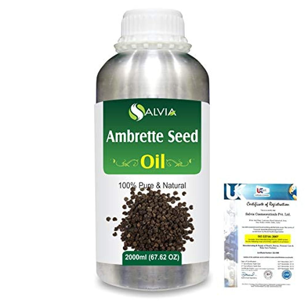 ワードローブタービンベギンAmbrette Seed (Abelmoschus Moschatus) 100% Natural Pure Essential Oil 2000ml/67 fl.oz.