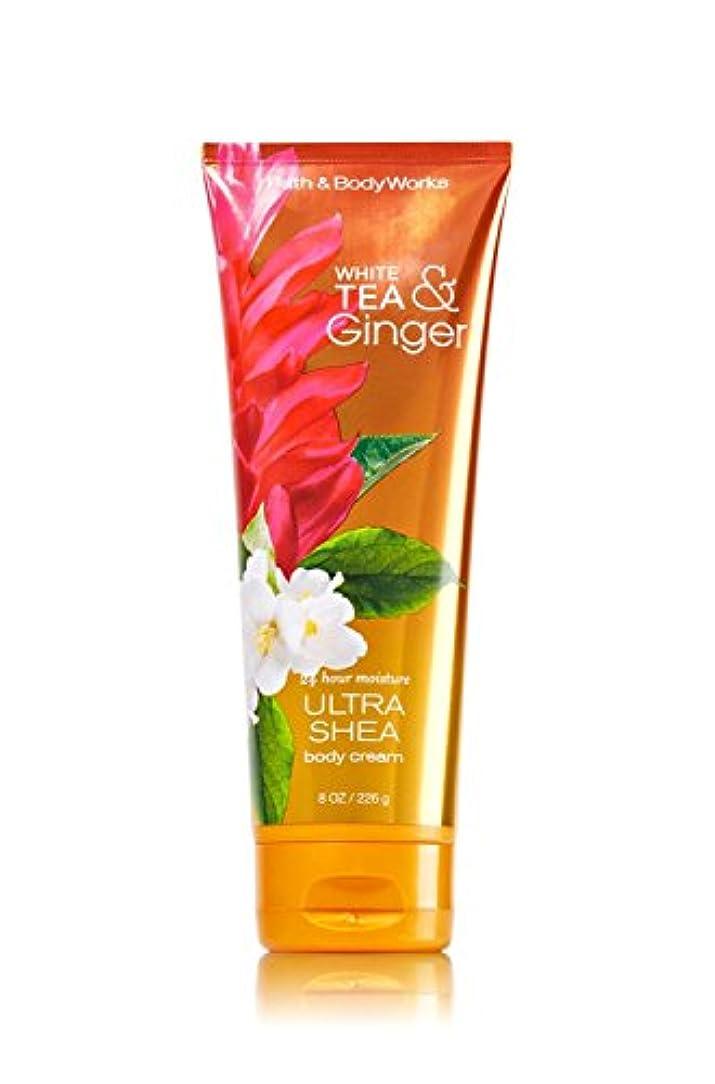 軽起こる公然とBath&BodyWorks White Tea Ginger Body Cream [並行輸入品]