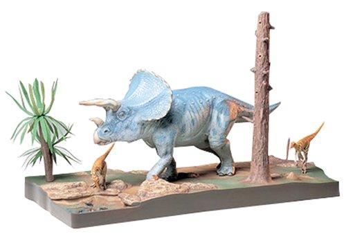 タミヤ 1/35 恐竜世界シリーズ No.04 トリケラトプス 情景セット プラモデル 60104