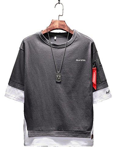 夏服?メンズ Tシャツ 半袖 カットソー メンズ ゆったり おしゃれ 薄手 涼しい カジュアル オールシーズン