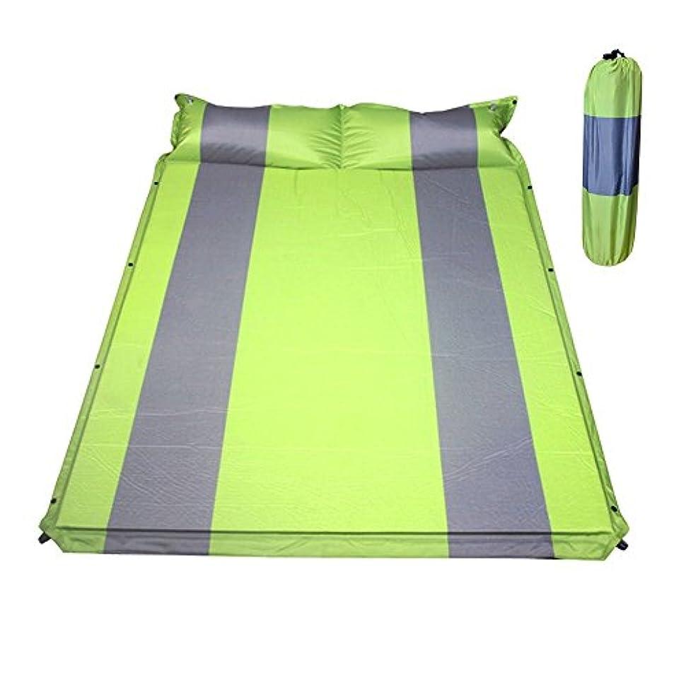欠かせない幾分絶対のHewflit ダブル キャンピングマット インフレータブル エアマット 2人用 枕付き 2.5cm 車中泊 キャンプ レジャー アウトドア 防災 連結可能 自動膨張式 収納袋付き