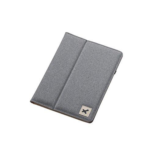 7.0〜8.4インチ汎用タブレットケース(ファブリック)/グレー TB-08FCHGY 1個