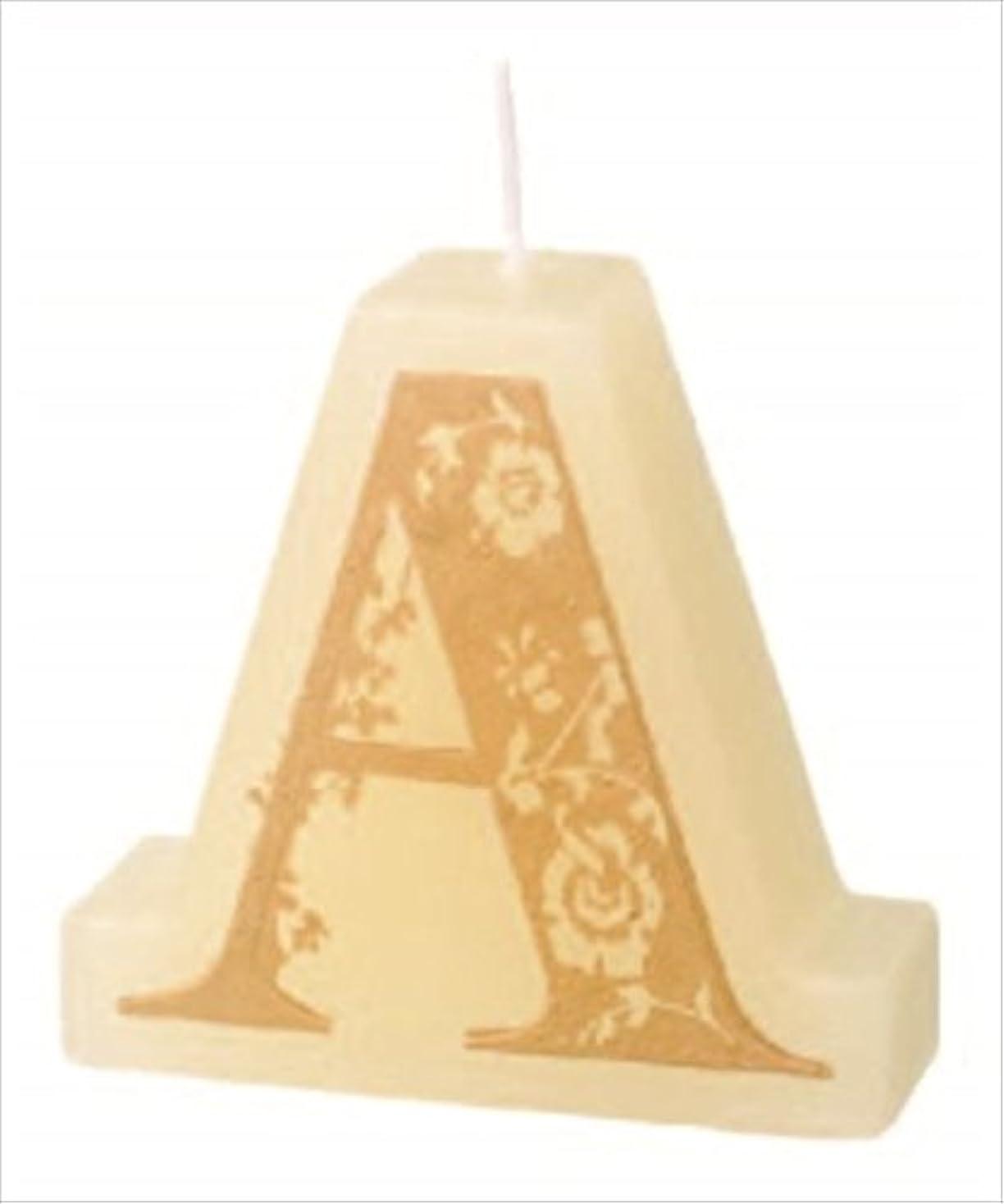 クリア横たわるカウボーイカメヤマキャンドル(kameyama candle) イニシャルキャンドルミニ 「 A 」
