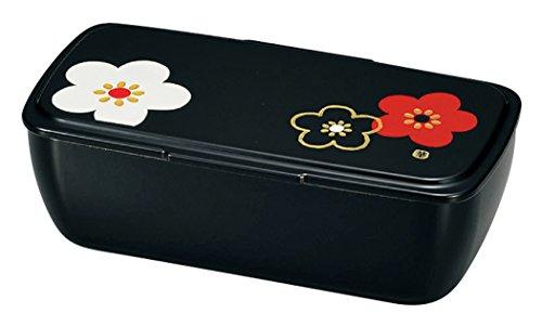 6d6d77f4a42b 日本製 HAKOYA たつみや Cool Bento 一段 黒 華文様 梅 52536 - Amazon ...