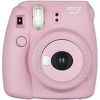 FUJIFILM インスタントカメラ チェキ instax mini8プラス 接写レンズ・純正ハンドストラップ付き ストロベリー INS MINI 8P STRAWBERRY