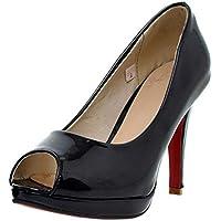Zanpa Basic Peep Toe Pumps Women High Heels