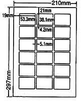 LDW18PC-5 OAラベル ナナワード (53.3×38.1mm 18面付け A4判) 5梱(レーザー、インクジェットプリンタ用。上質紙ラベル)マルチタイプ