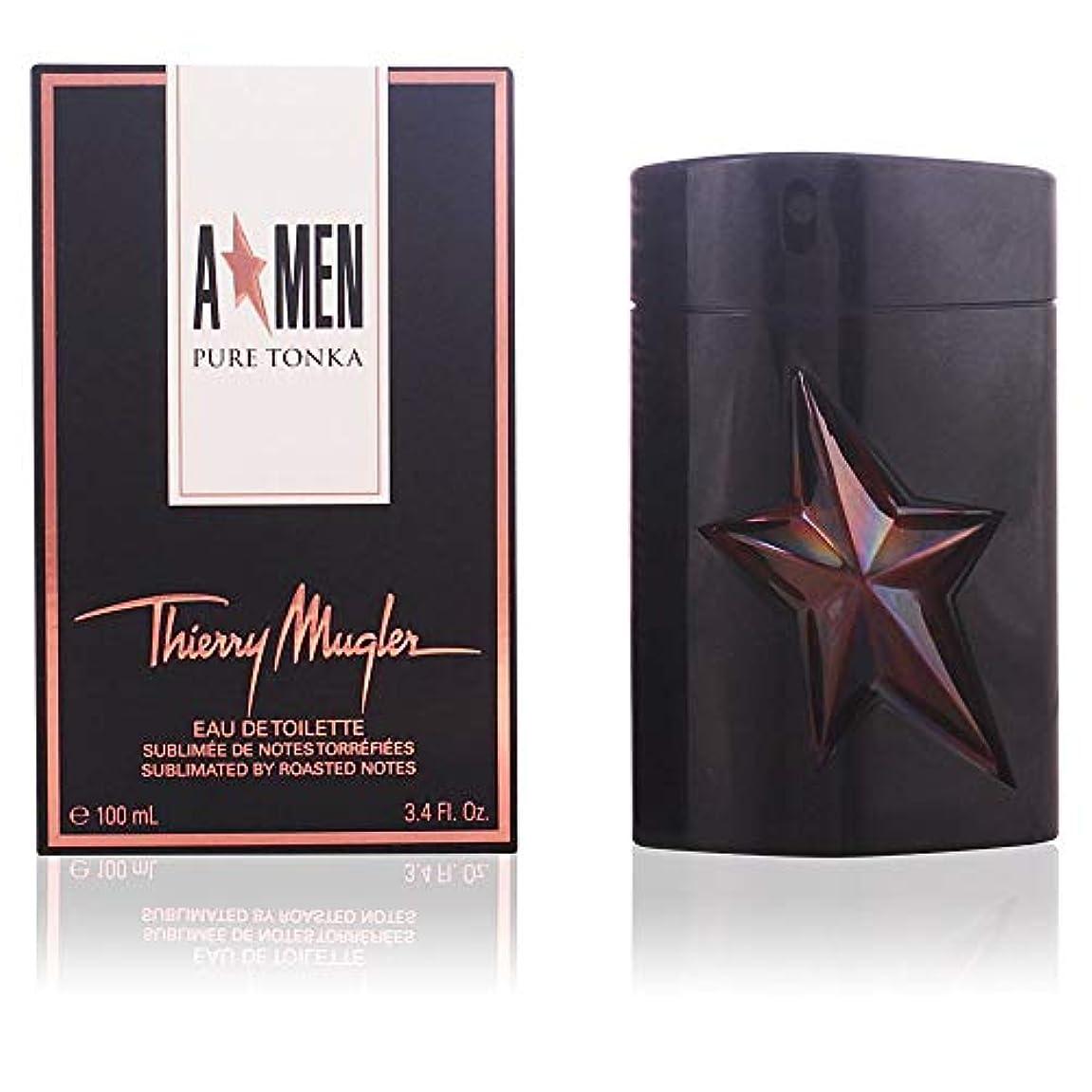 長椅子ダム最少Thierry Mugler A*Men Angel Men Pure Tonka 100ml/3.4oz Eau De Toilette EDT Spray