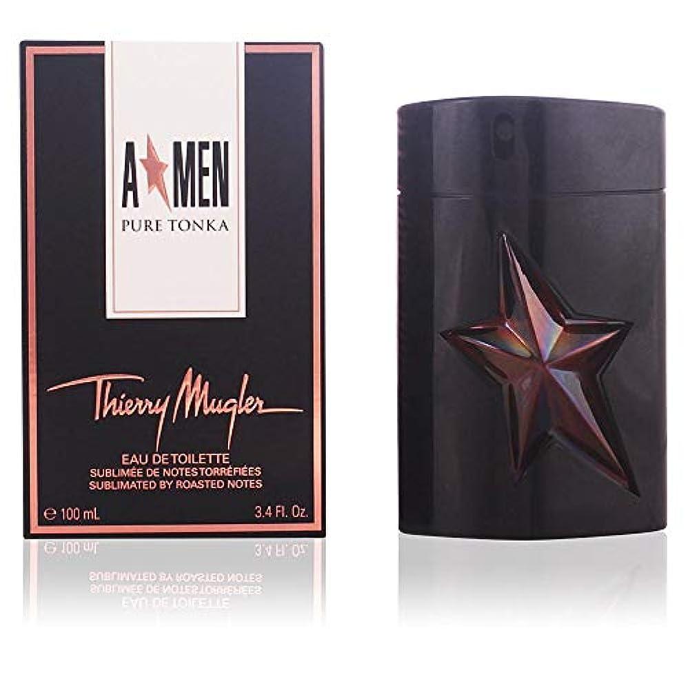 頬特徴十分なThierry Mugler A*Men Angel Men Pure Tonka 100ml/3.4oz Eau De Toilette EDT Spray