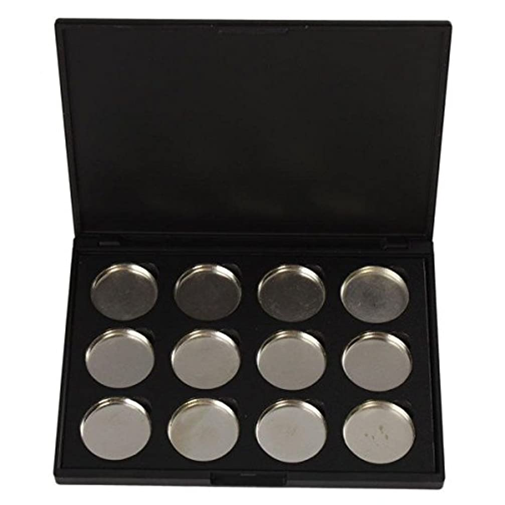 修正するケープ符号メイクアップパレット Vodisa アイシャドウケース 空パレットメイクブラシDIY化粧品 便利 12色収納ボックス