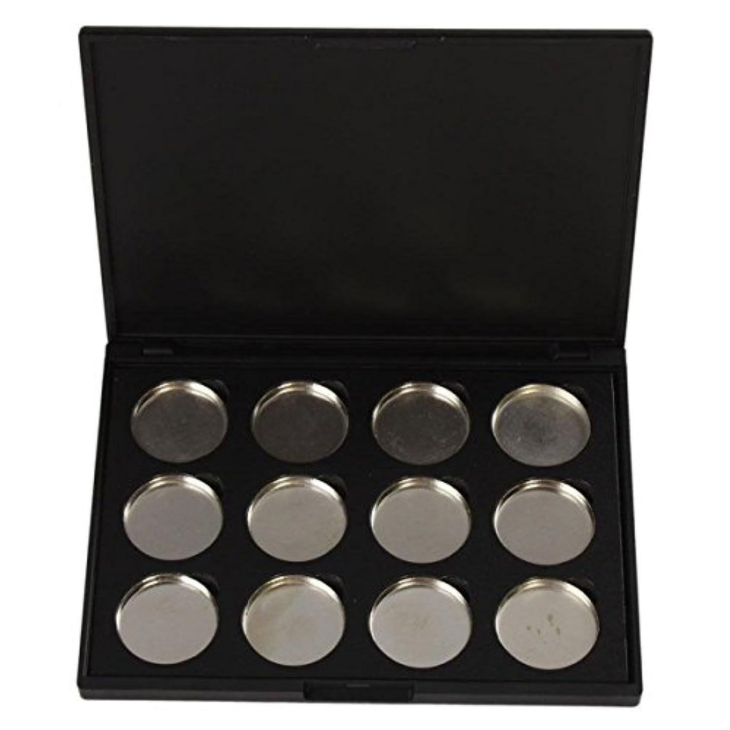 申請中パズル軽量メイクアップパレット Vodisa アイシャドウケース 空パレットメイクブラシDIY化粧品 便利 12色収納ボックス
