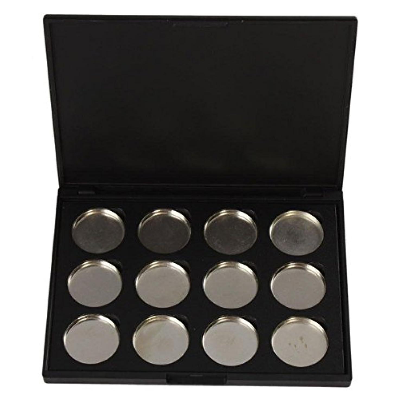 乳白下貼り直すメイクアップパレット Vodisa アイシャドウケース 空パレットメイクブラシDIY化粧品 便利 12色収納ボックス
