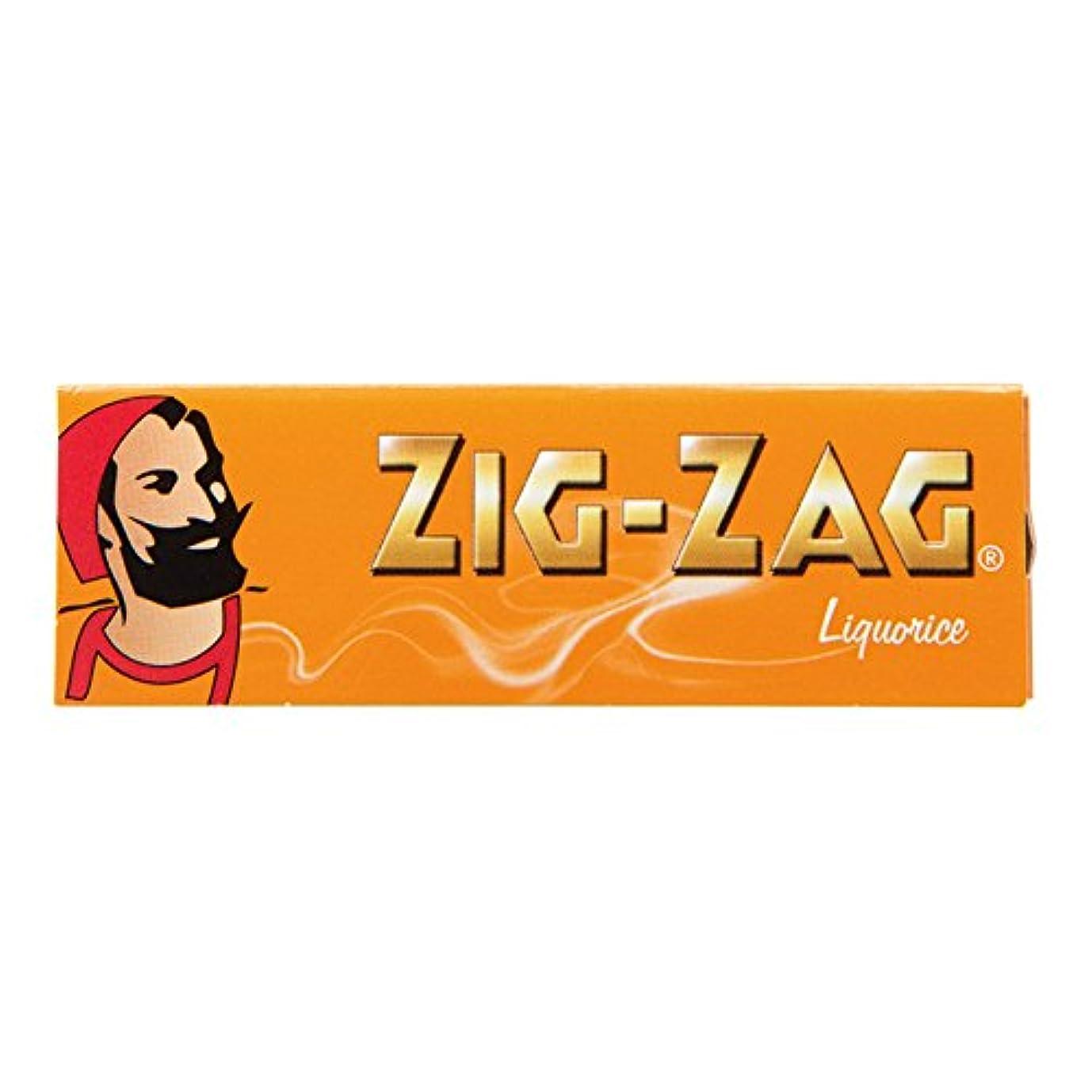 経験者岸湿度[箱買い商品] ZIG-ZAG(ジグザグ)リコリス シングル(70mm)ペーパー 50枚入り 1箱(50個入り) スローバーニング #78881