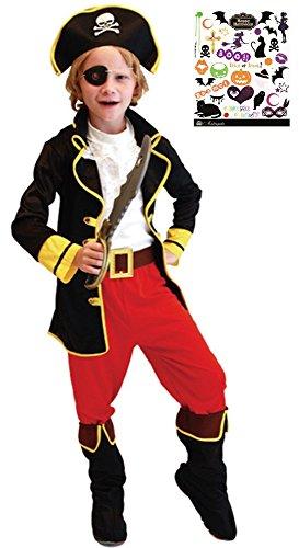 Madrugada パイレーツボーイ 海賊 船長 ハロウィン タトゥーシール付き...