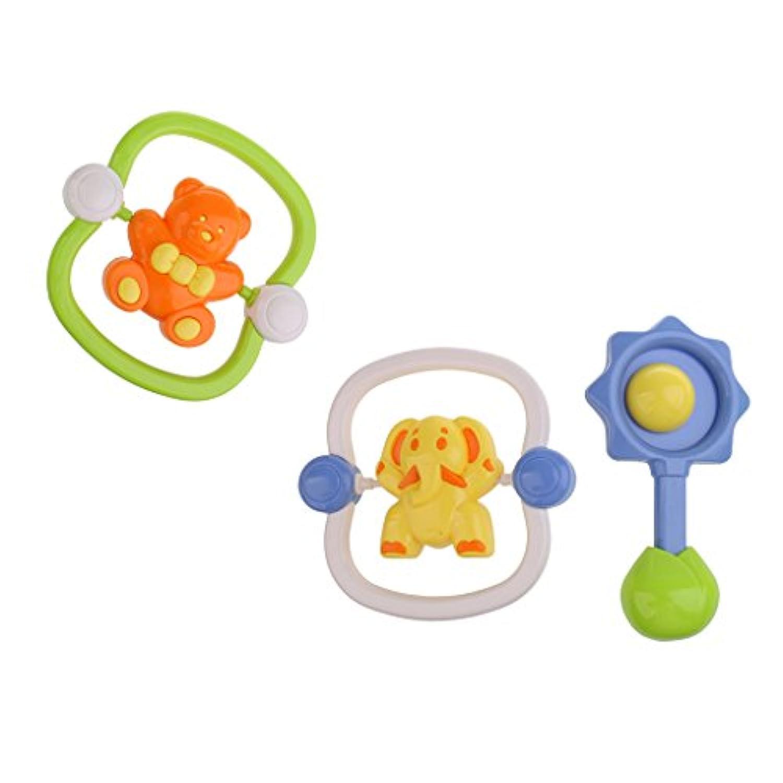 SONONIA 赤ちゃん ハンドベル 手 ラトル 漫画 動物 ベビーカー おもちゃ 飾り
