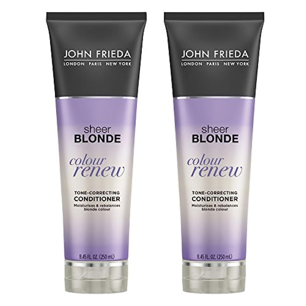 John Frieda シアーブロンド色調補正用コンディショナー、8.45オンス(2パック)を更新 2パック シアーブロンド色リニュー コンディショナー(2パック)