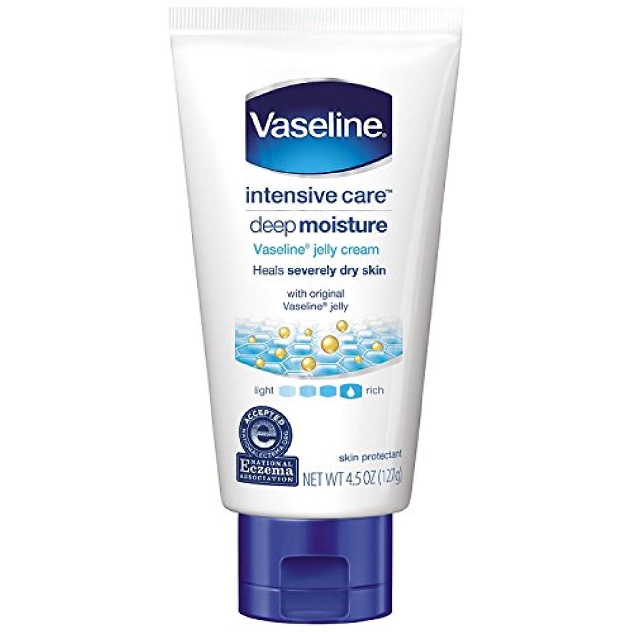 持っている欠員クルーVaseline intensive care deep moisture jelly cream 4.5oz(127g) ヴァセリン インテンシブケア ディープ モイスチュア ジェリークリーム