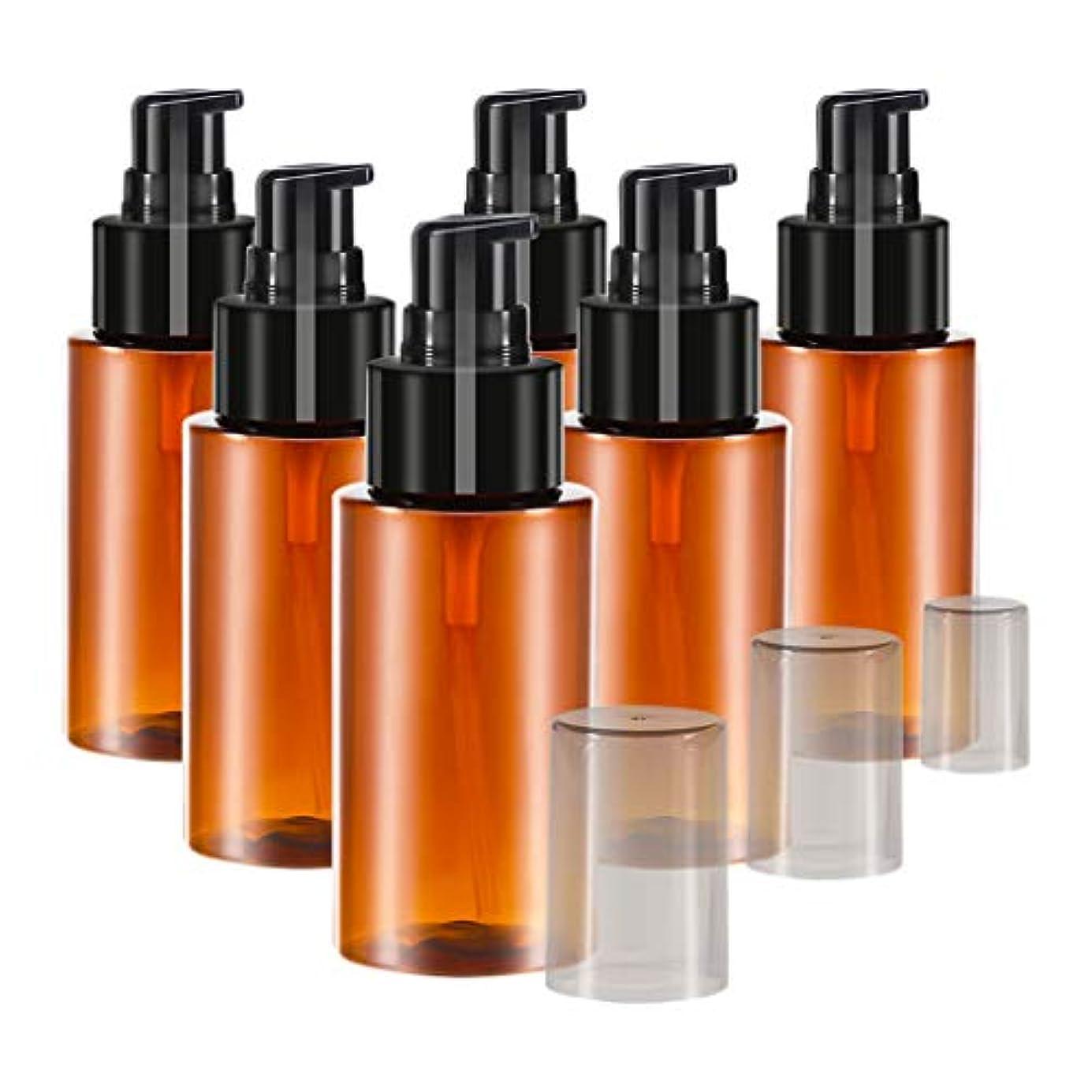 傀儡バクテリア尊敬する6個 60ml エッセンシャルオイル 化粧品ボトル スプレーボトル 詰め替え 保存容器 全2色 - 褐色