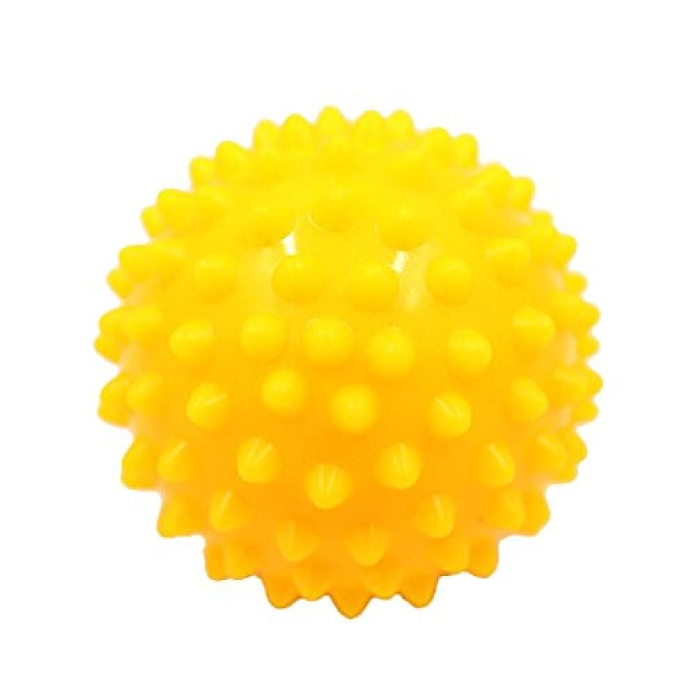 マナー断片受け取るマッサージボール マッサージ器 マッサージャー リラックス スパイク マッサージボール 3色選べ - 黄, 説明したように
