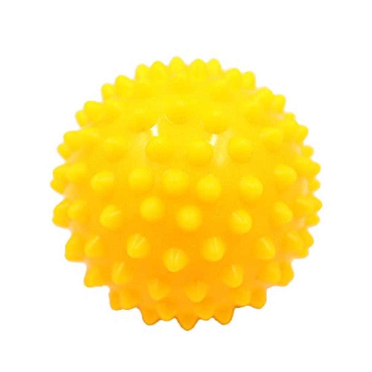 ソビエトワーム手荷物Kesoto マッサージボール マッサージ器 ボディ パームレリーフ スパイク マッサージ 刺激ボール 3色選べ - 黄