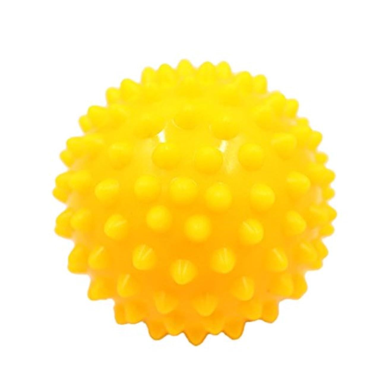 チャップバス効果マッサージボール マッサージ器 ボディ パームレリーフ スパイク マッサージ 刺激ボール 3色選べ - 黄, 説明したように