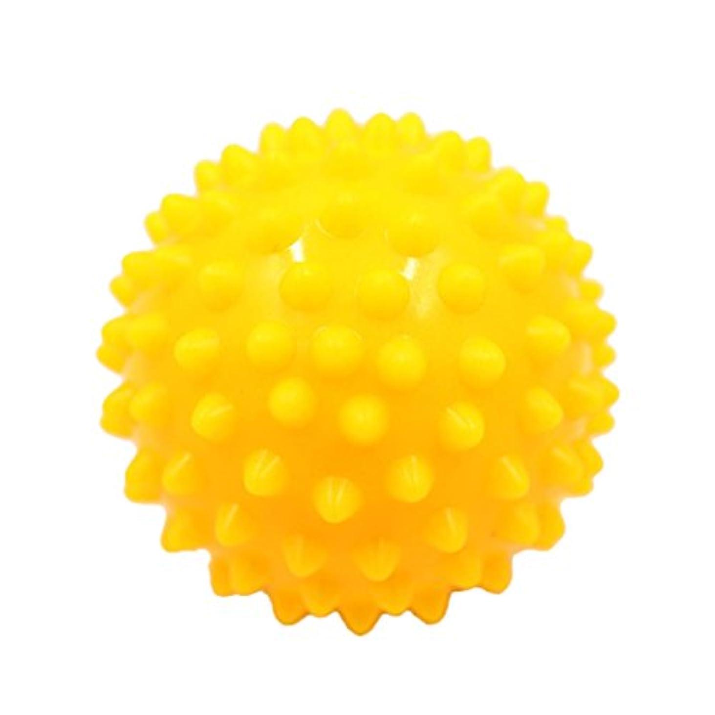 仕方パール夕方Kesoto マッサージボール マッサージ器 ボディ パームレリーフ スパイク マッサージ 刺激ボール 3色選べ - 黄