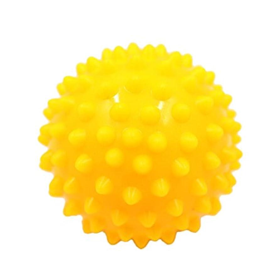 ステンレス料理をする蒸気Kesoto マッサージボール マッサージ器 ボディ パームレリーフ スパイク マッサージ 刺激ボール 3色選べ - 黄