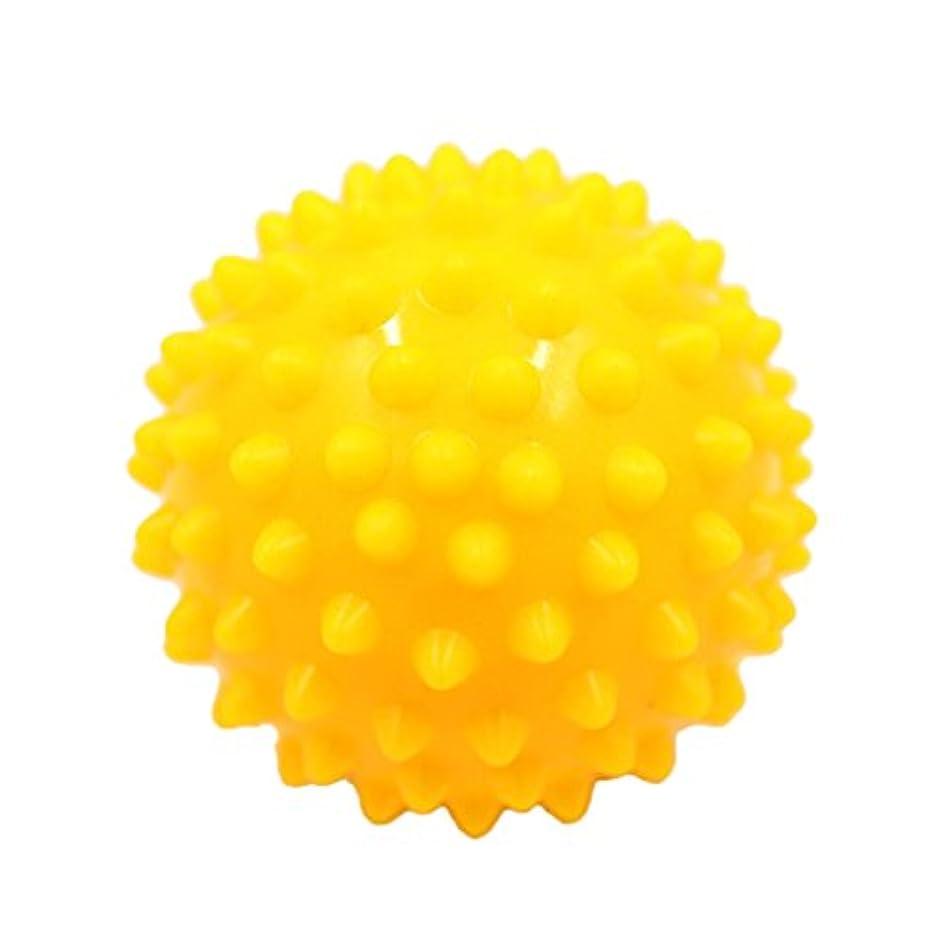 ボタンウェーハ語マッサージボール マッサージ器 ボディ パームレリーフ スパイク マッサージ 刺激ボール 3色選べ - 黄, 説明したように