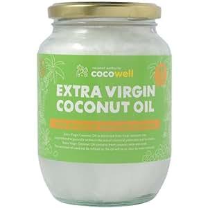 cocowell (ココウェル) エキストラバージンココナッツオイル 474ml ガラス瓶詰