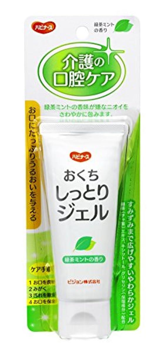 ラブ混乱難しいハビナース おくちしっとりジェル 緑茶ミントの香り 60g