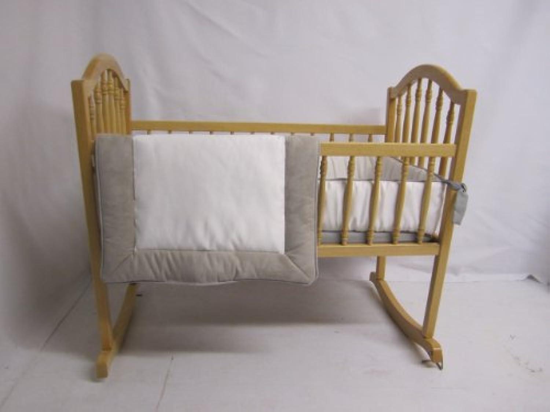 Baby Doll Bedding Zuma Cradle Bedding Set, Grey/White by BabyDoll Bedding