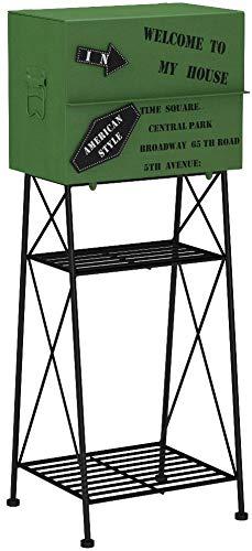 ヤマソロ Aiden マグネット付きポスト グリーン 幅400×奥行330×高さ980mm 1台