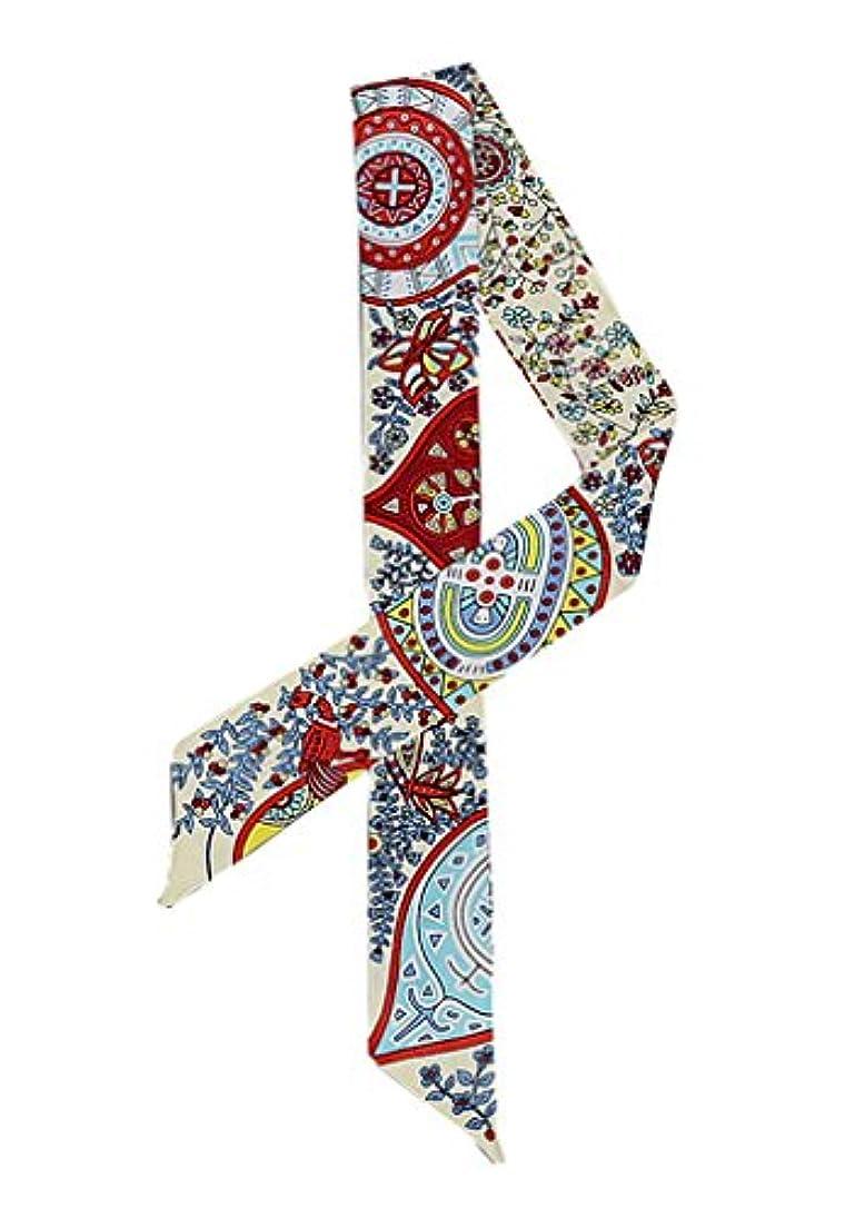 うつつかいますシティ(ウォ2U)Woo2u ファッション 可愛い 花柄 レディース オフィススカーフ マフラー ネッカチーフ バンダナ 巻きつけ カバン シュシュ アクセサリー リボン ヘッドドレス ツイリー