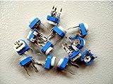 【PLOVER】 半固定ボリューム 半固定抵抗 可変抵抗 オリジナルセット 100Ω~1MΩ 13種類 各5個(合計65個) ユニバーサル基板付き PR-223
