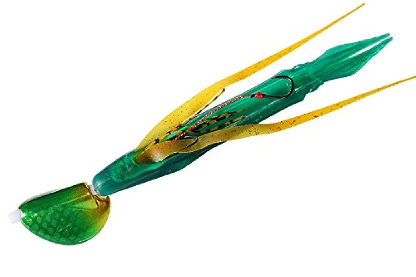 分類人に関する限り猛烈なJACKALL(ジャッカル) タイラバ ビンビン玉 スルメデス 200g メタルグリーン/緑イカ ルアー