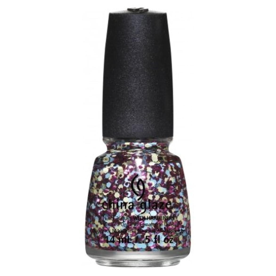 リア王花束サッカーCHINA GLAZE Nail Lacquer - Suprise Collection - I'm A Go Glitter (並行輸入品)