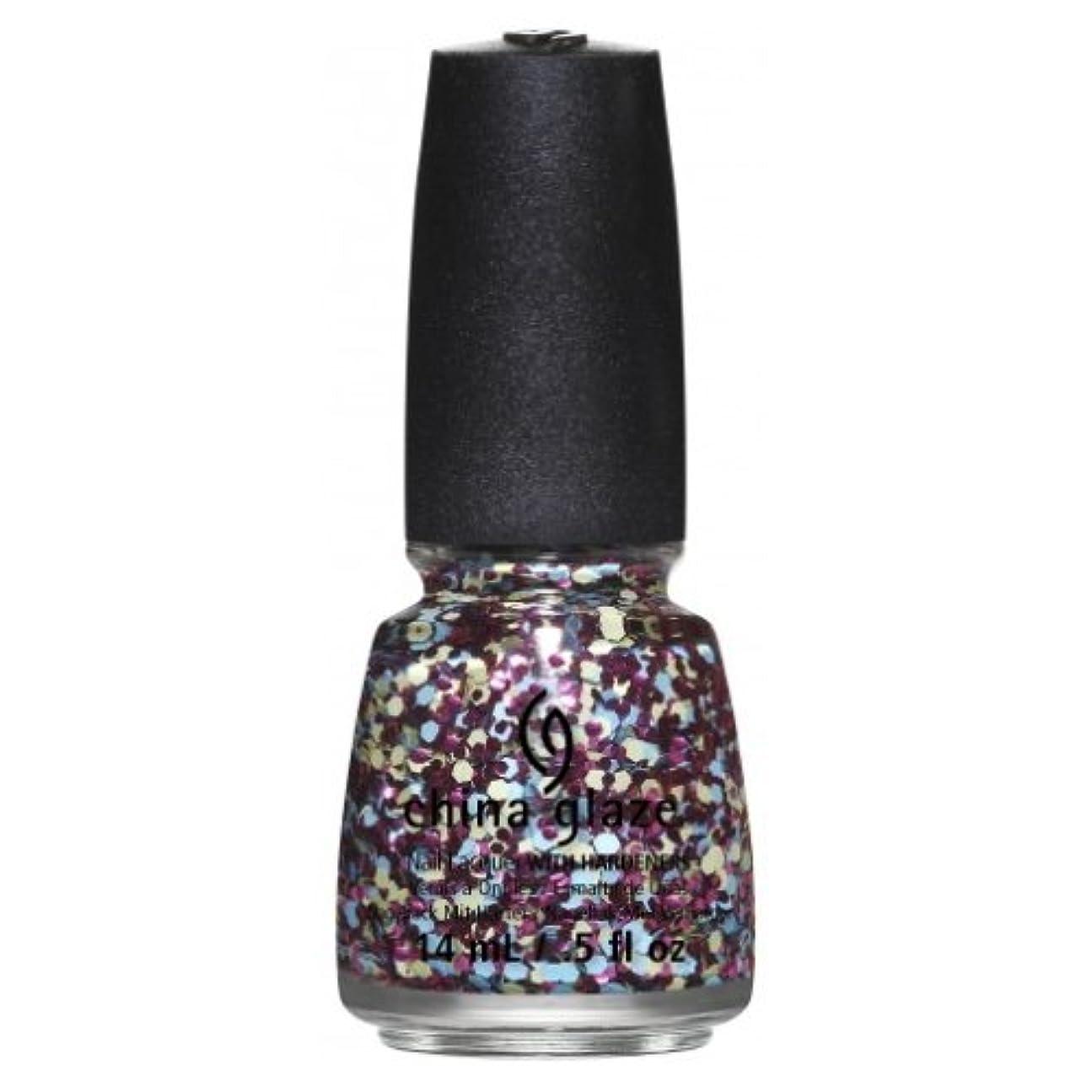 より良いあからさま大騒ぎCHINA GLAZE Nail Lacquer - Suprise Collection - I'm A Go Glitter (並行輸入品)